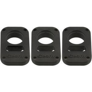 Scotty [3134] låsplattor för hänglås till djupriggar svart 3-pack