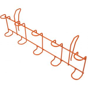 Wiggler Transport spöhållare för 5 spön till ismetepulkor orange