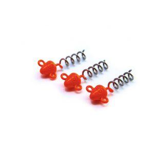 Svartzonker Screw-in-head jiggskalle flash orange 3-pack