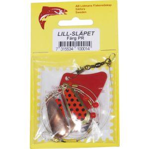 Lidmans Fiskeredskap Lill-Släpet röd/svartprickig (PR) 1-pack